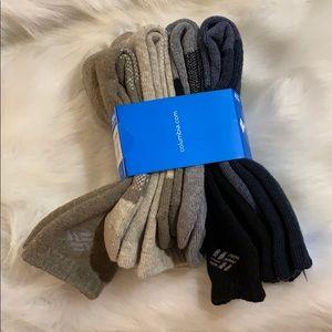 New COLUMBIA Men's 4 pack Crew Wool Bland Socks